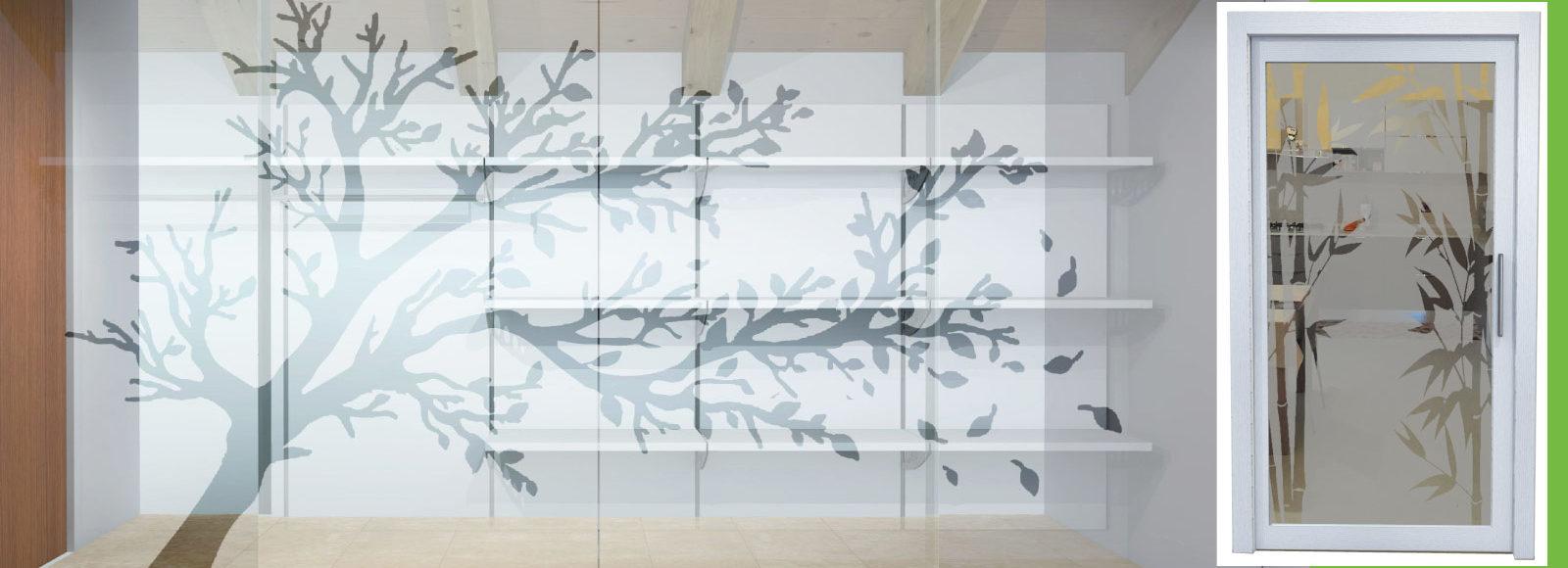 Stampa e decorazioni su vetro